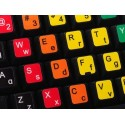 Learning English Lower & Upper Case Colored non transparent keyboard stickers