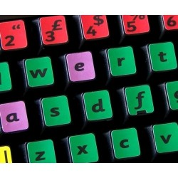 Learning English UK (Sassoon) Colored non transparent keyboard stickers