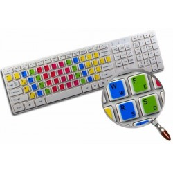 Learning Colemak Colored non transparent keyboard stickers