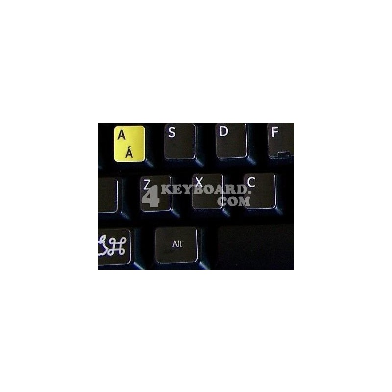 Learning English UK Colored Apple non transparent keyboard stickers