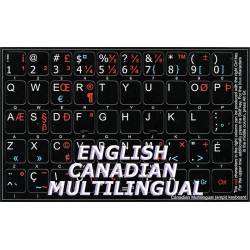 Canadian multilingual non transparent keyboard stickers