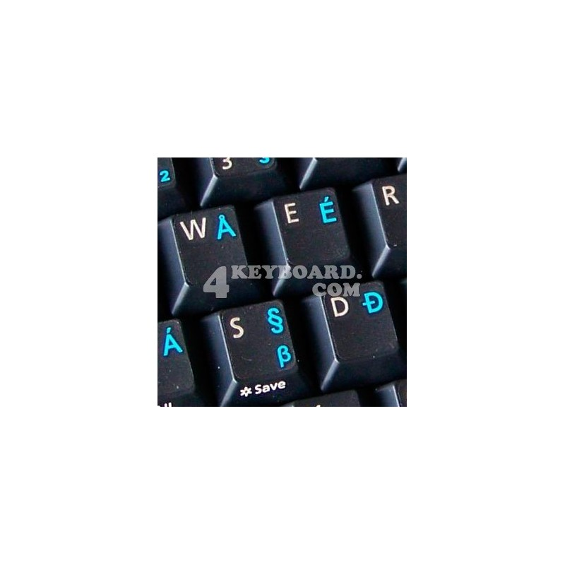 English US International transparent keyboard stickers
