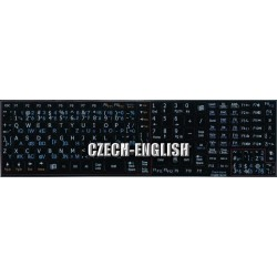 Czech - English Notebook keyboard sticker
