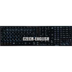 Czech - English Notebook keyboard sticker