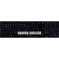 Danish English Notebook keyboard sticker