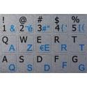 French AZERTY-English Notebook keyboard sticker