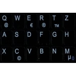German Notebook keyboard sticker