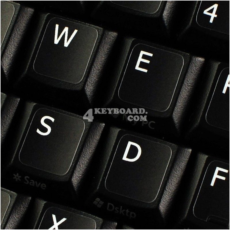 English Keyboard Replacement Stickers White on Black Any PC Computer Laptop G~