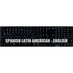 Spanish Latin American - English Notebook keyboard sticker
