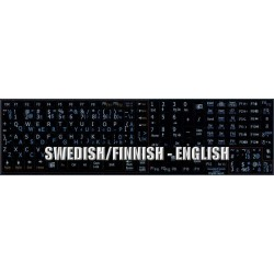 Swedish Finnish English Notebook keyboard sticker
