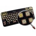 English US Vintage Typewriter non transparent keyboard stickers