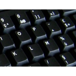Replacement French AZERTY keyboard sticker