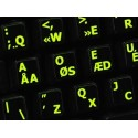 Glowing fluorescent Programmer Dvorak English keyboard sticker