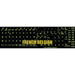 Glowing fluorescent French Belgian keyboard sticker