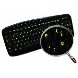 Glowing fluorescent English UK keyboard sticker
