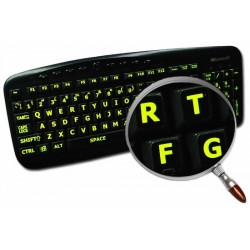 Glowing fluorescent English UK Large Lettering keyboard sticker