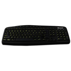 Glowing fluorescent English UK Mac keyboard sticker