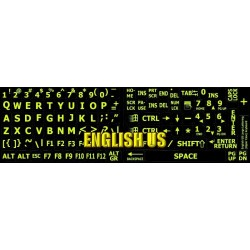 Glowing fluorescent English US Large Lettering keyboard sticker
