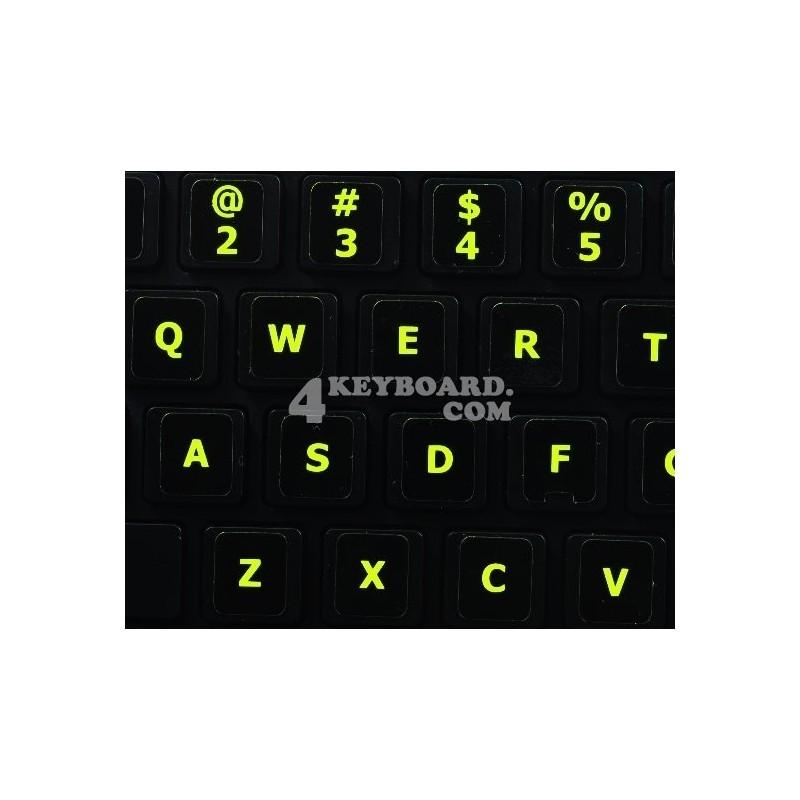 Glowing fluorescent English US Mac keyboard sticker