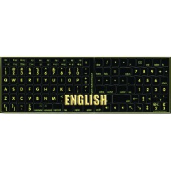 Glowing fluorescent English US Mac keyboard sticker