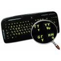 Glowing fluorescent Greek English keyboard sticker