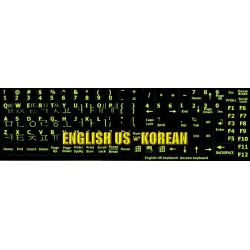 Glowing fluorescent Korean English keyboard sticker