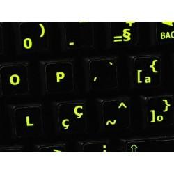 Glowing fluorescent Portuguese Brazilian keyboard sticker