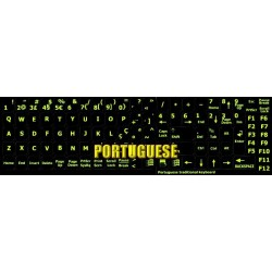 Glowing fluorescent Portuguese keyboard sticker