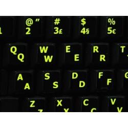 Glowing fluorescent Portuguese English keyboard sticker
