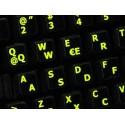 Glowing fluorescent Spanish (LA) English keyboard sticker