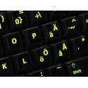 Glowing fluorescent Swedish/Finnsh keyboard sticker