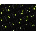 Glowing fluorescent Swiss keyboard sticker