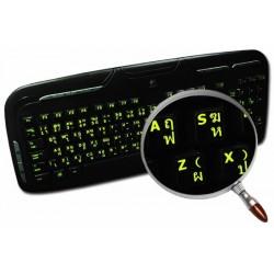 Glowing fluorescent Thai English keyboard sticker