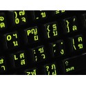 Glowing fluorescent Thai English keyboard sticker