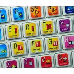 Avid News Cutter keyboard sticker