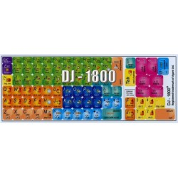 DJ-1800 keyboard sticker