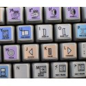 Avid Media Composer Galaxy series keyboard sticker 12x12 size