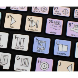 Avid Media Composer Galaxy series keyboard sticker