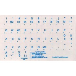 Swedish Finnish transparent keyboard  stickers
