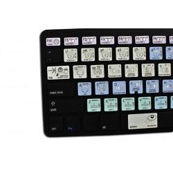 TRAKTOR SCRATCH PRO Galaxy series keyboard sticker apple