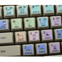 REASON Galaxy series keyboard sticker 12x12