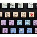 Adobe Premiere Galaxy series keyboard sticker 12x12 size