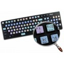 Apple Final Cut Pro Galaxy series keyboard sticker 12x12 size