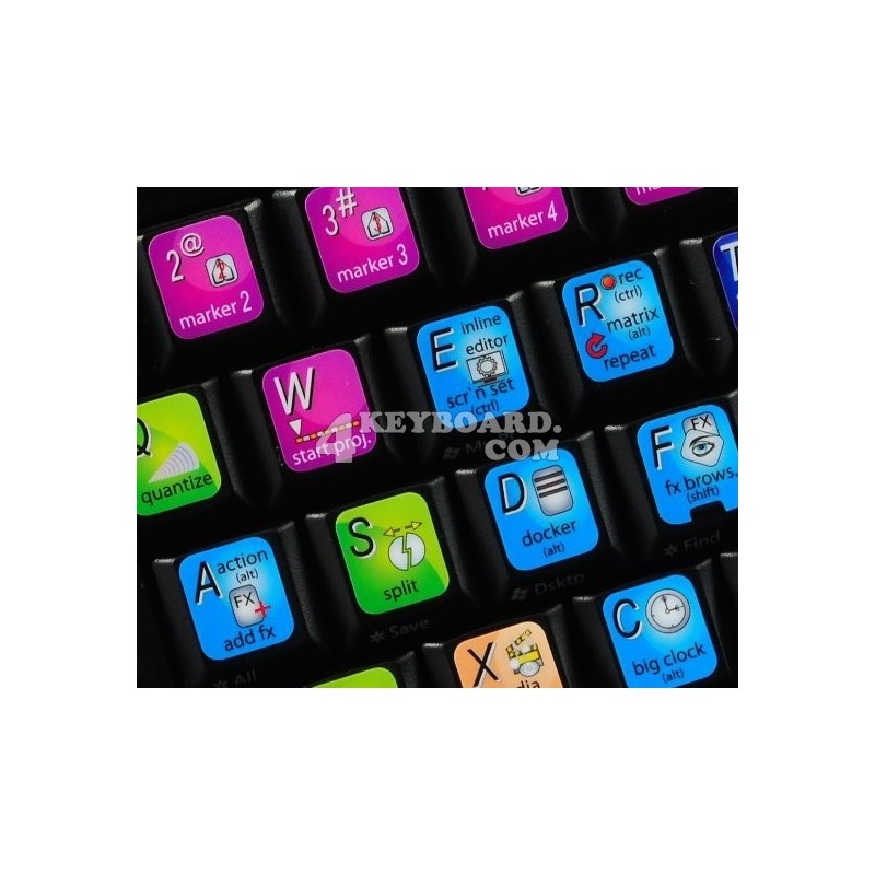 REAPER keyboard sticker