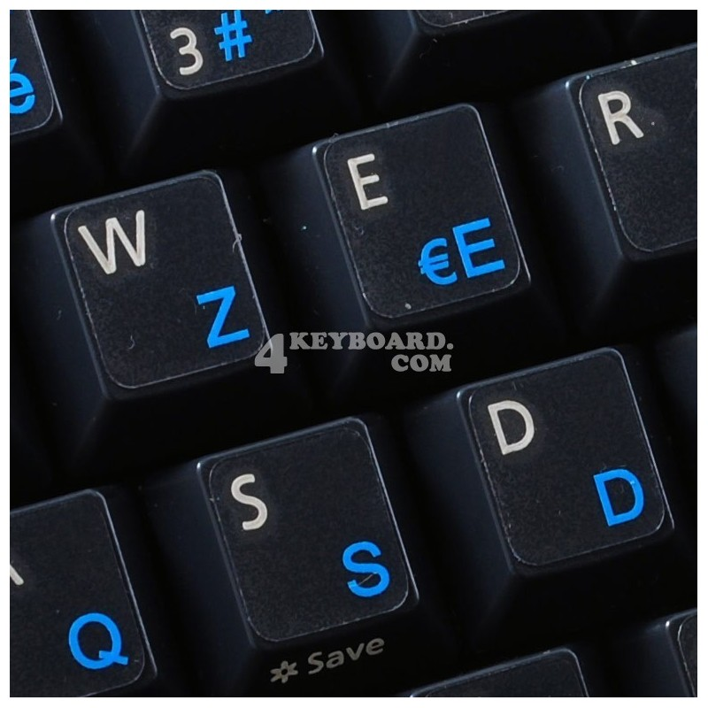 French AZERTY transparent keyboard stickers