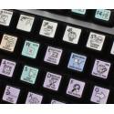 Sound Forge Galaxy series keyboard sticker 12x12