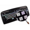 Avid Xpress Galaxy series keyboard sticker 12x12 size