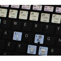 VIRTUAL DJ Galaxy series keyboard sticker apple