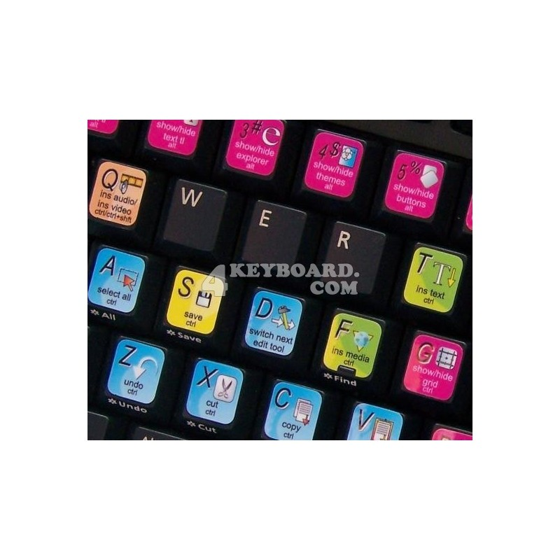 DVD Architect keyboard sticker