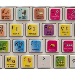 Apple Motion keyboard sticker